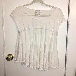 Free People X Lace Back Tee